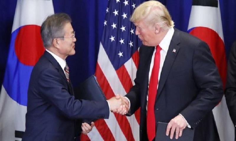 Donald Trump hails South Korea trade deal