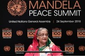 PM urges world leaders to settle all int'l disputes, fight terrorism