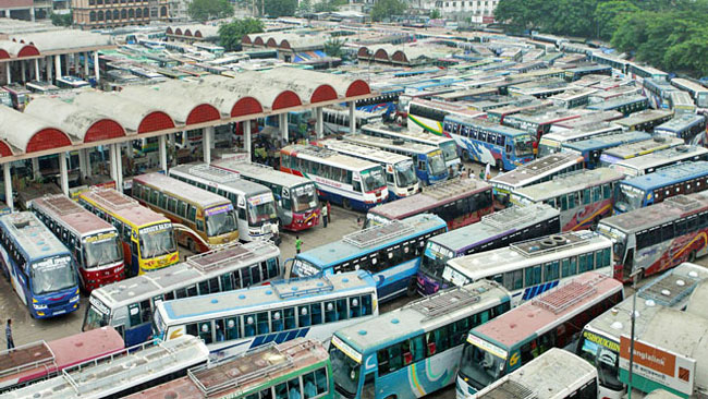 Bus services from Mohakhali terminal resumes after 5-hr suspension