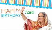 PM Sheikh Hasina's 72nd birthday Friday