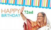 PM Sheikh Hasina's 72nd birthday Friday