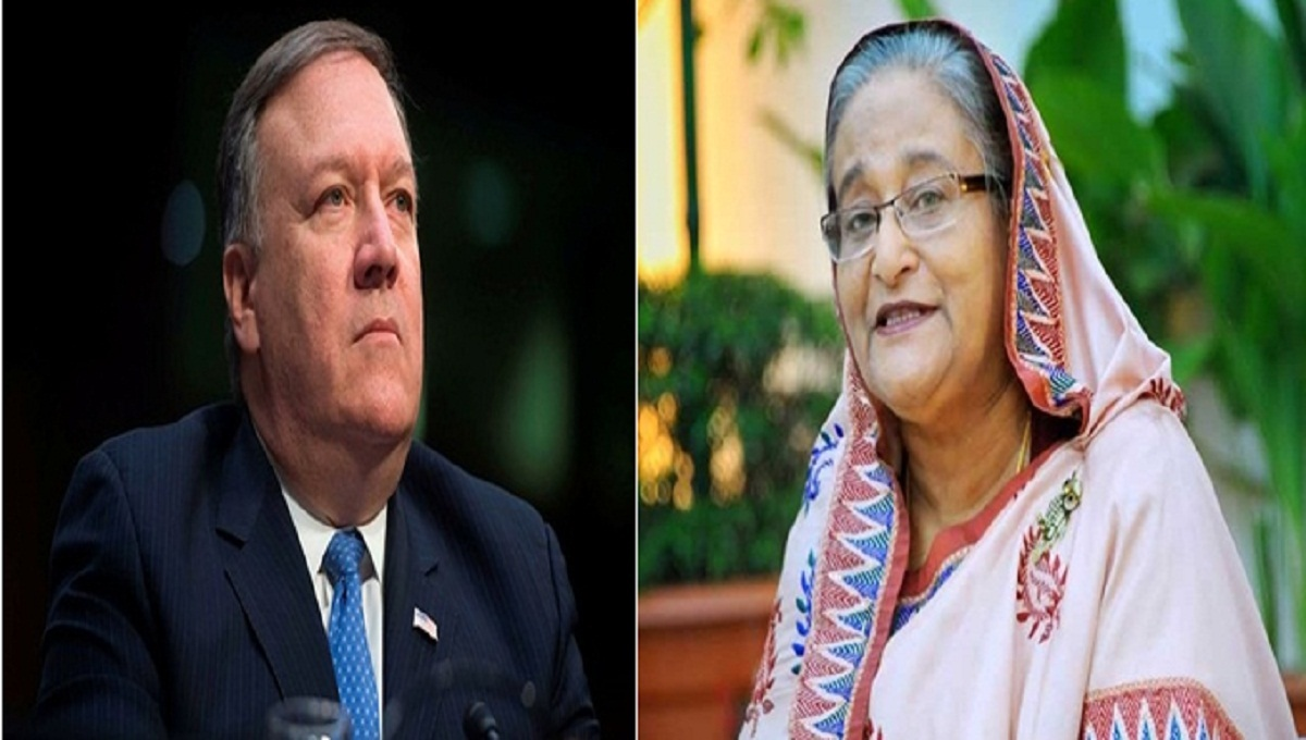 Mike Pompeo meets Sheikh Hasina in New York