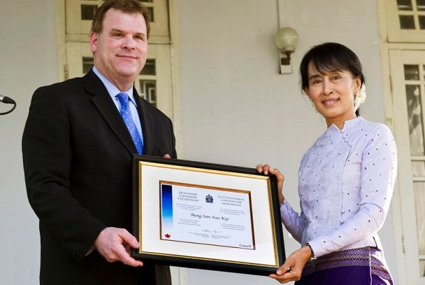 Canada revoke Suu Kyi's honorary citizenship
