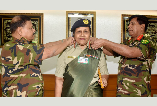 Dr Susane Giti made country's 1st woman major general