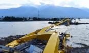 Indonesia tsunami: Rescuers dig through rubble for survivors