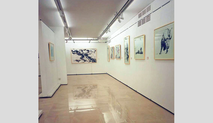 Shahabuddin's solo painting exhibition begins