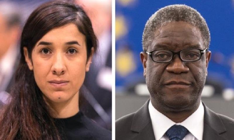 Nobel Peace Prize for anti-rape activists Nadia Murad and Denis Mukwege