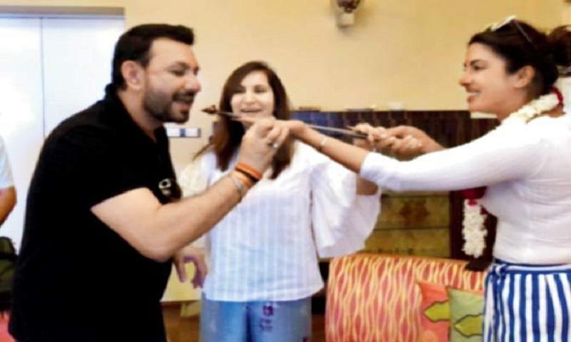 Priyanka Chopra rings in a friend's birthday in Jodhpuri style