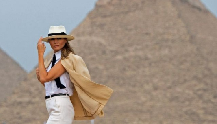 Melania Trump rounds off Africa tour in Egypt