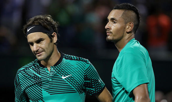 Federer warns Kyrgios over work ethic