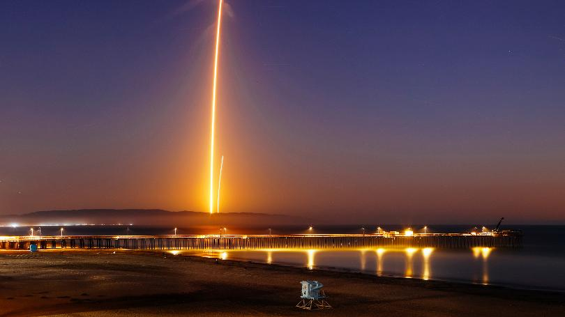 SpaceX satellite launch lights up night sky, social media