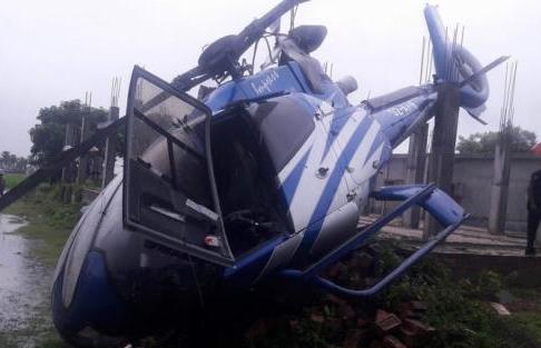 Faridur Reza, 5 others escape unhurt in Rajshahi chopper crash  (Video)