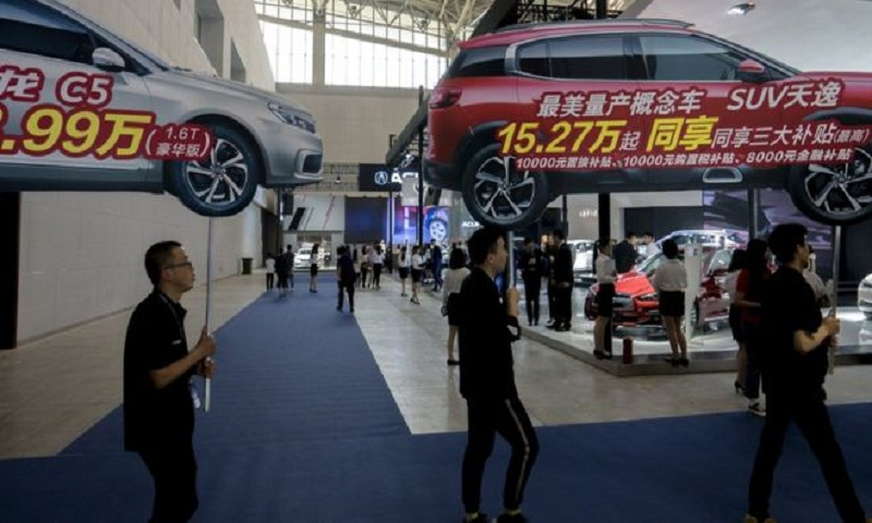 China car sales slump ripples globally