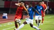 China, India scoreless in friendly football match