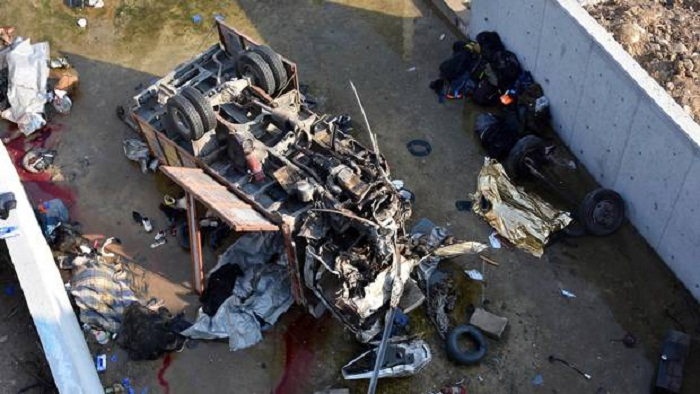 22 dead as migrant truck crashes in Turkey