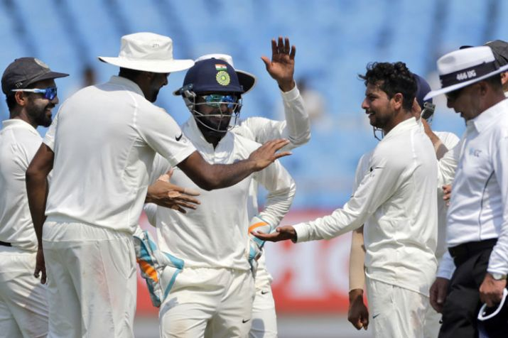 India bowl out West Indies for 127, need 72 runs to win 2nd Test