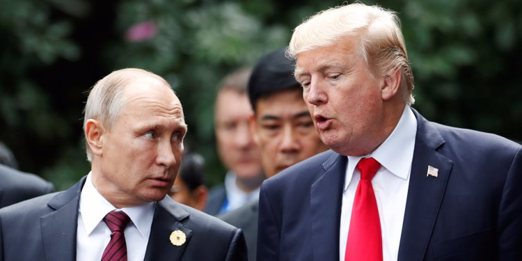 Trump says being 'very tough' in talks with Putin