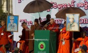 Myanmar demonstrators condemn foreign intervention