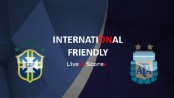 South American rivals Brazil and Argentina lock horns tonight