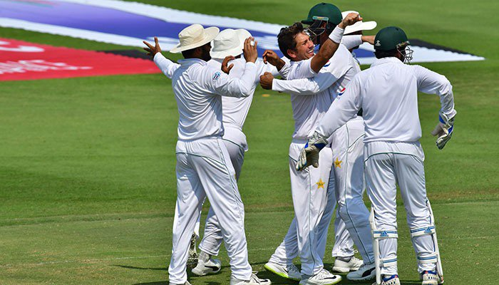 Pakistan dismisses Australia for 145 runs in first innings