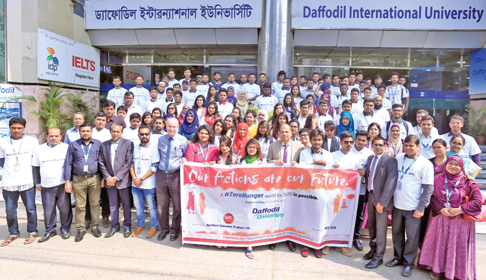 Teachers and students of Daffodil International University