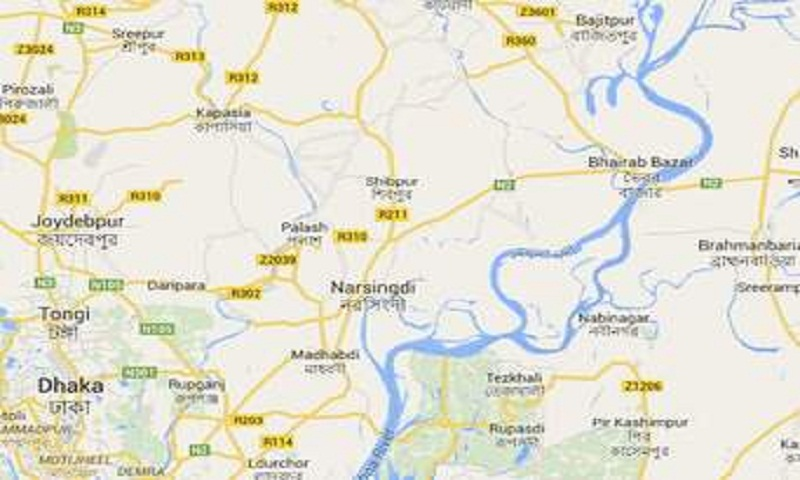 Police cordon of militant den in Narsingdi