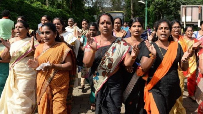 Mobs attack women near India Hindu temple