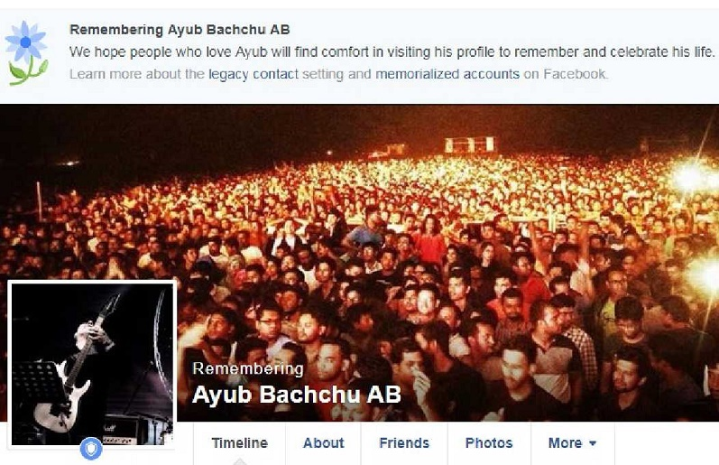 Facebook remembering legendary singer Ayub Bachchu