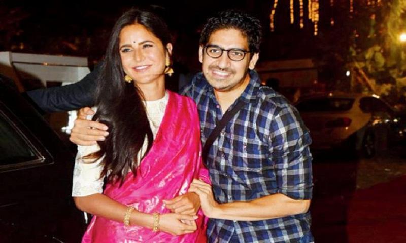 Katrina Kaif bonds with Ayan Mukerji during Durga Puja