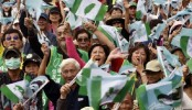 Tens of thousands rally for Taiwan independence vote
