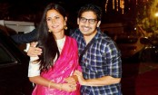 Katrina Kaif bonds with Ayan Mukerji during Durga Puja