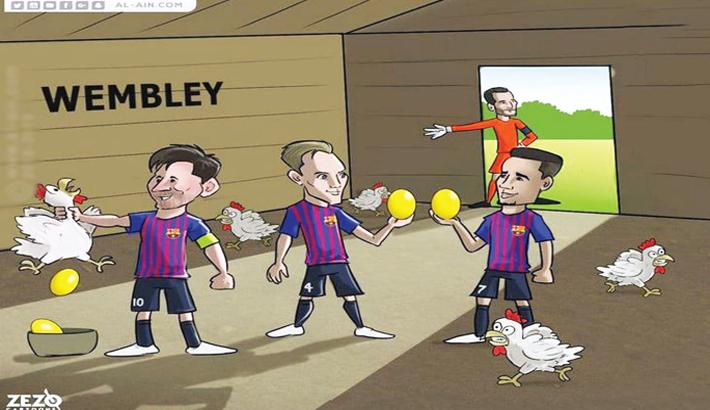 Barcelona Beat Tottenham in UCL