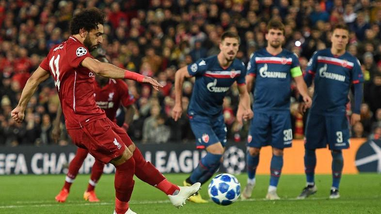 Salah scores 50th as Liverpool thrash Red Star Belgrade