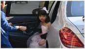 Aaradhya looks anxious as steps out of her car alone!