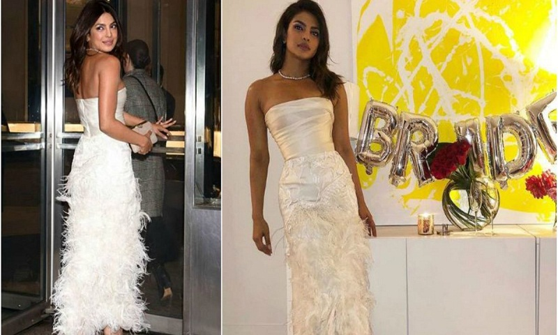 Priyanka Chopra decked up for bridal shower in New York