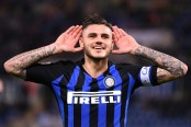 Icardi double lifts Inter Milan second in Serie A