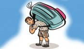 Kids weighed down by school bags