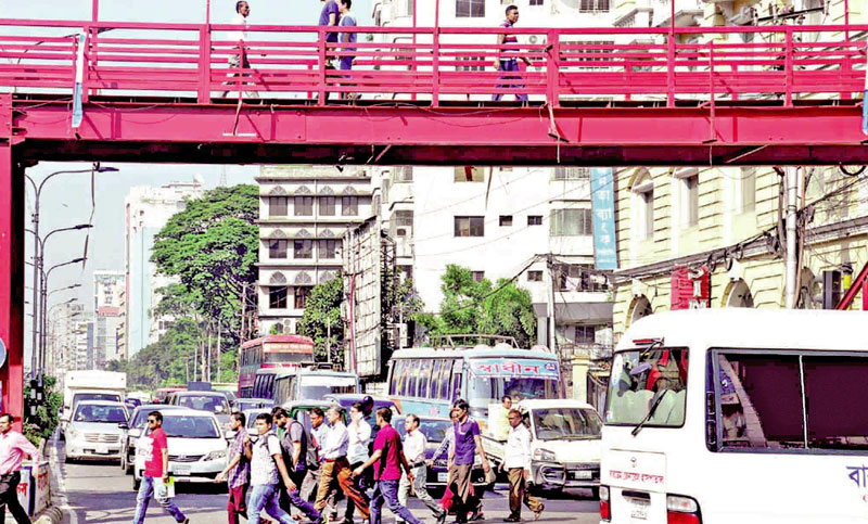 Why padestrians avoid footbridge?