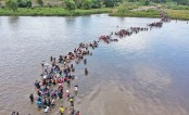 Crossing the Suchiate River to Mexico