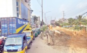 Slow pace in development works on Arakan Road