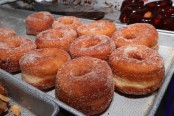 When shop owner's wife fell ill, customers lined up early to buy all his doughnuts