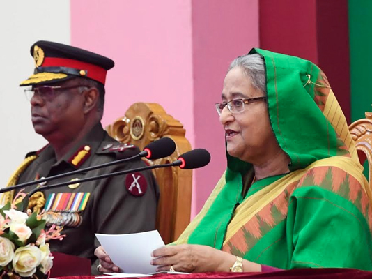 Prime Minister urges BGB to free country from drug, militancy