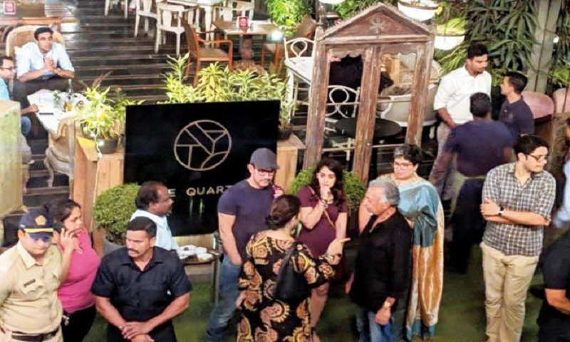 Aamir Khan watches a play with ex-wife Reena, children Junaid and Ira