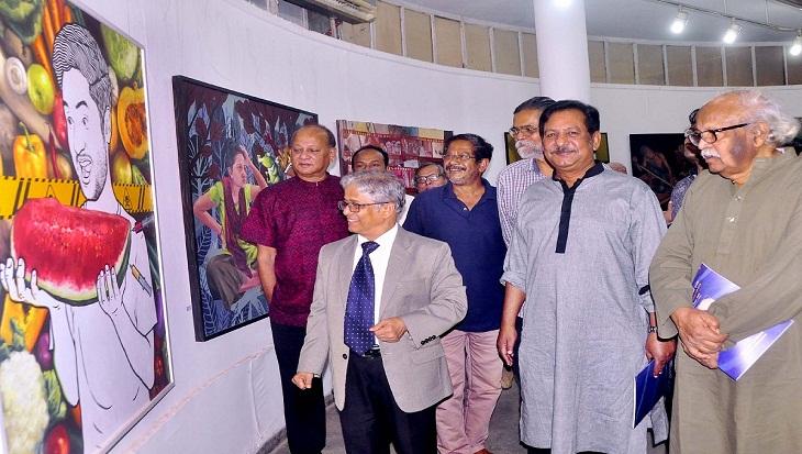 Weeklong art exhibition begins at Dhaka University