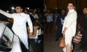 Deepika Padukone, Ranveer Singh twin in white as they leave for their wedding