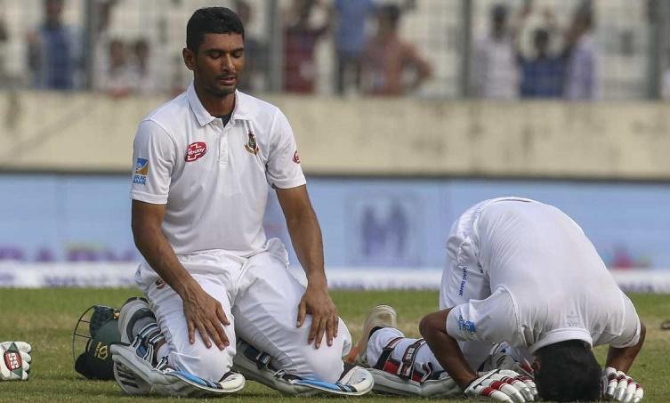Mahmudullah hits his 2nd Test ton