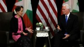 Violence against Rohingya 'without excuse', Pence tells Suu Kyi