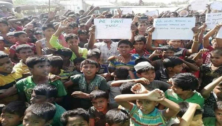 Rohingyas staging demonstrations, unwilling to go back