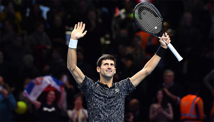 Djokovic halts Anderson's ATP finals run at the last four