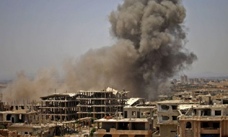 US-led airstrikes kill 40 in IS-held area of Syria